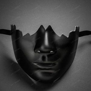 Unpainted Lower Half Face Costume Masks Masquerade